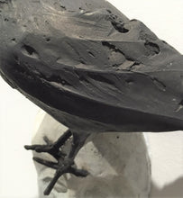 Load image into Gallery viewer, detail of bird that is on top of face bronze