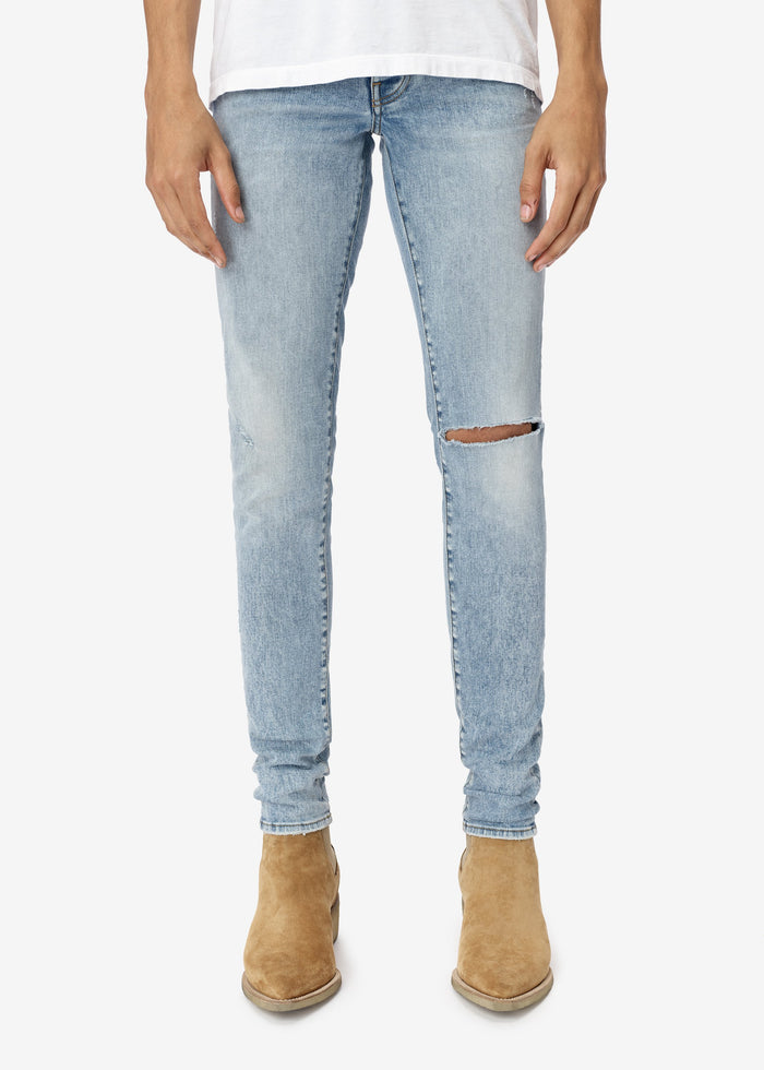 Slit Knee Jean - Authentic Indigo