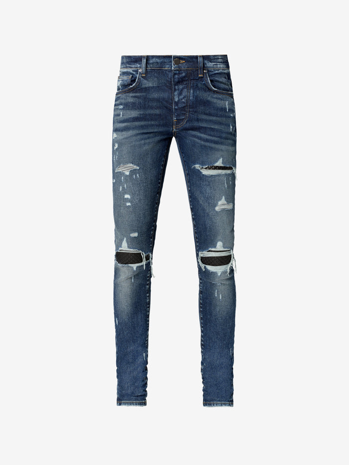 Quilted Leather Jean Animation Classic - Deep Indigo