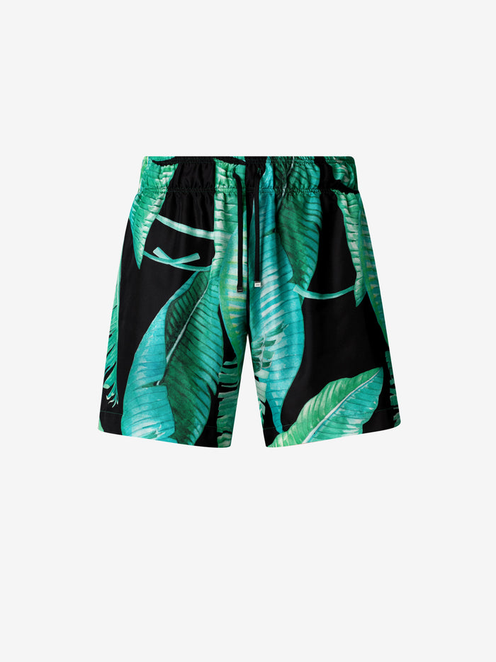 Banana Leaves Shorts - Black