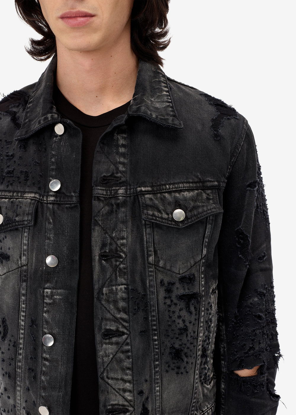 Shotgun Trucker Jacket - Antique Black
