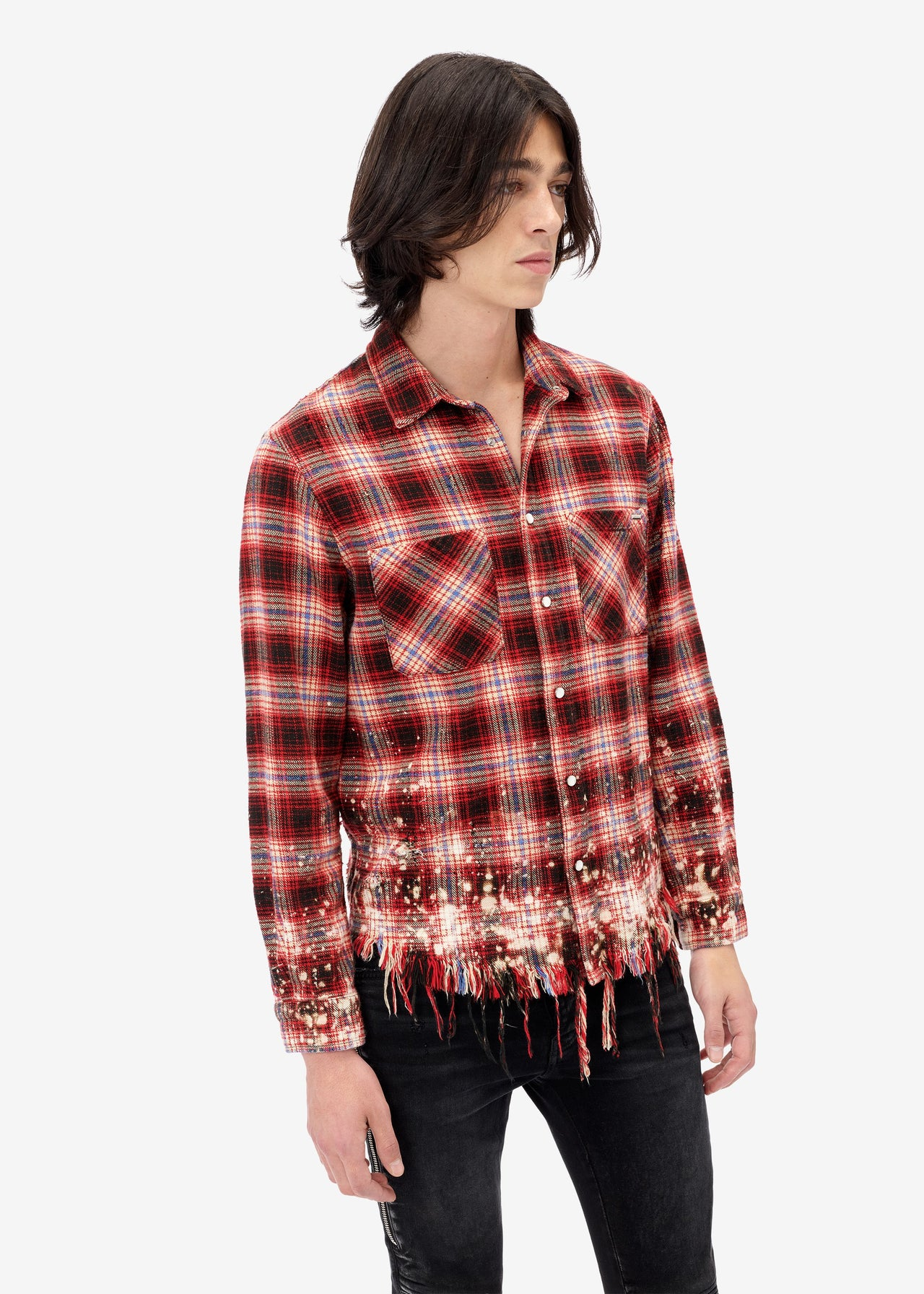 Bleached Flannel - Red