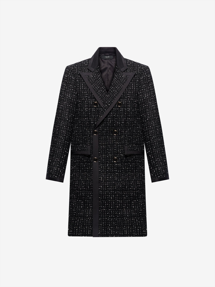 Boucle Long Coat - Black