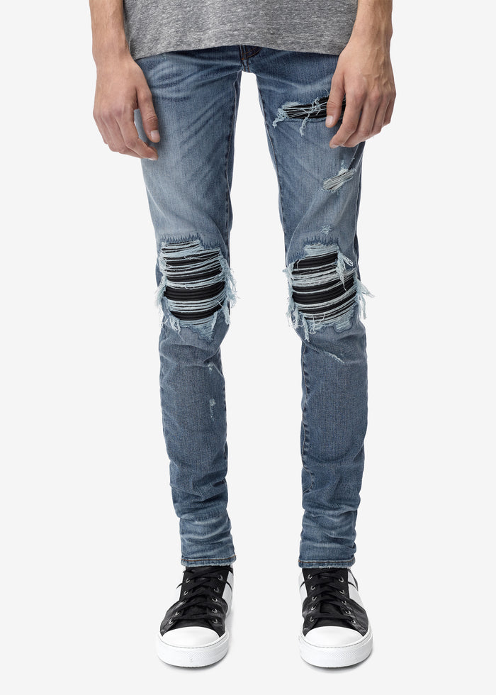 MX1 Leather Patch Jean Classic Indigo
