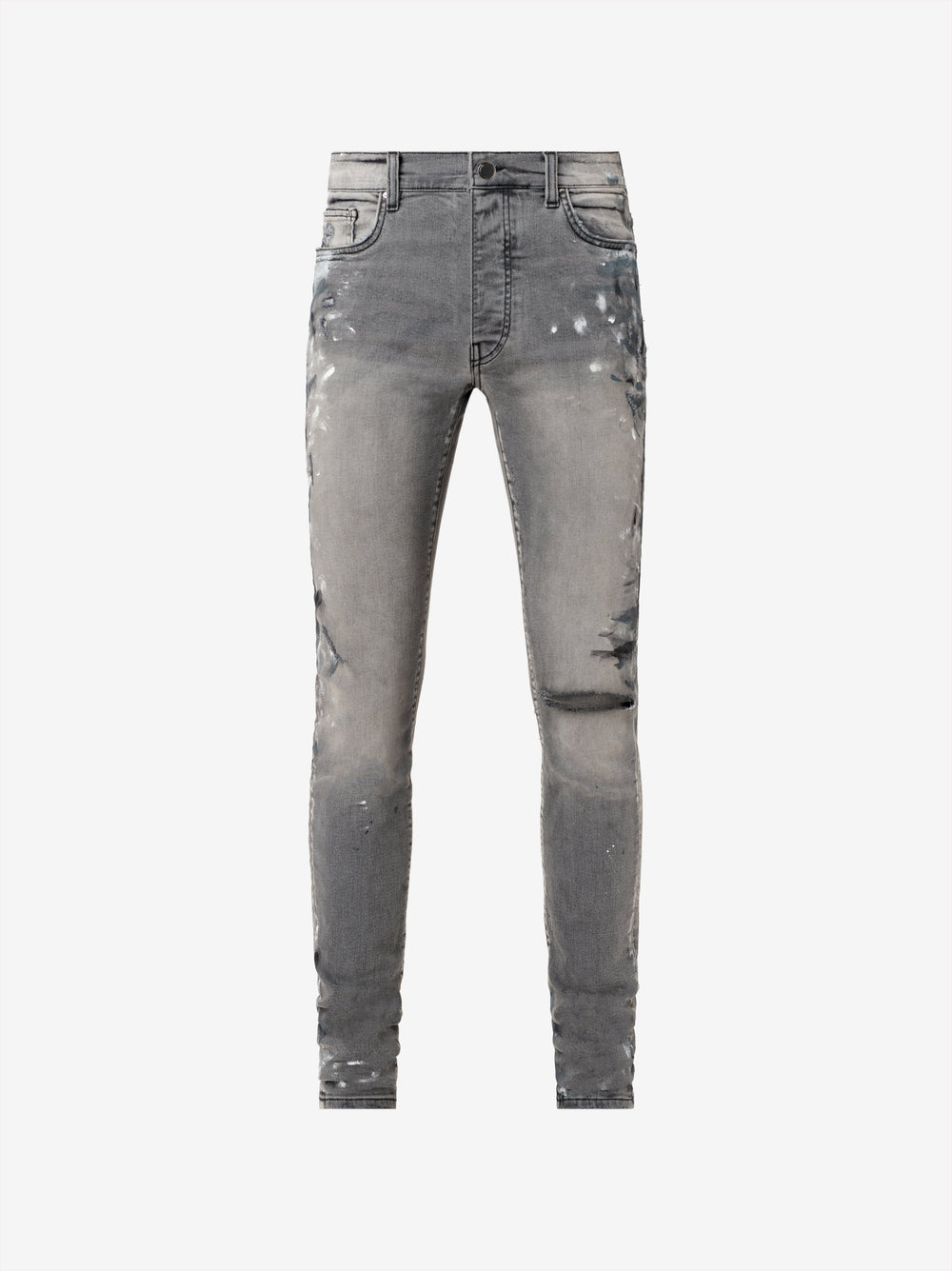 Exclusive Painter Slit Knee Jean - Classic Grey