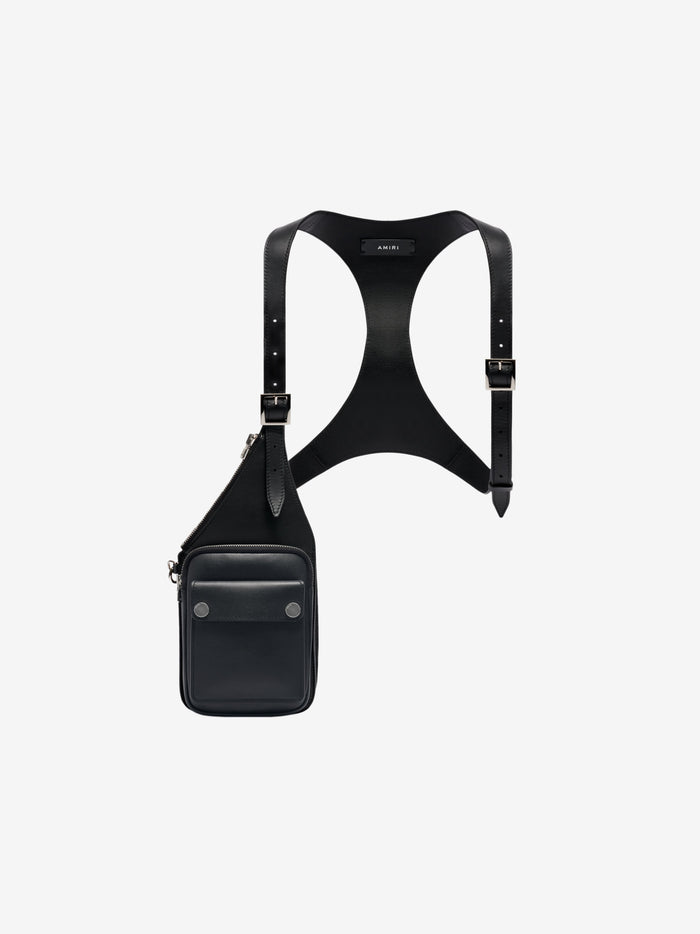 One Side Harness - Black/Silver
