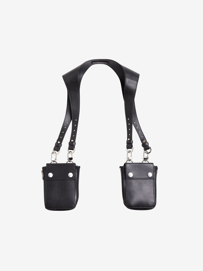 Calf Leather Harness Bag - Black