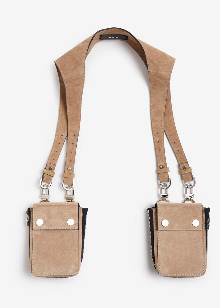 Suede Harness Bag - Brown