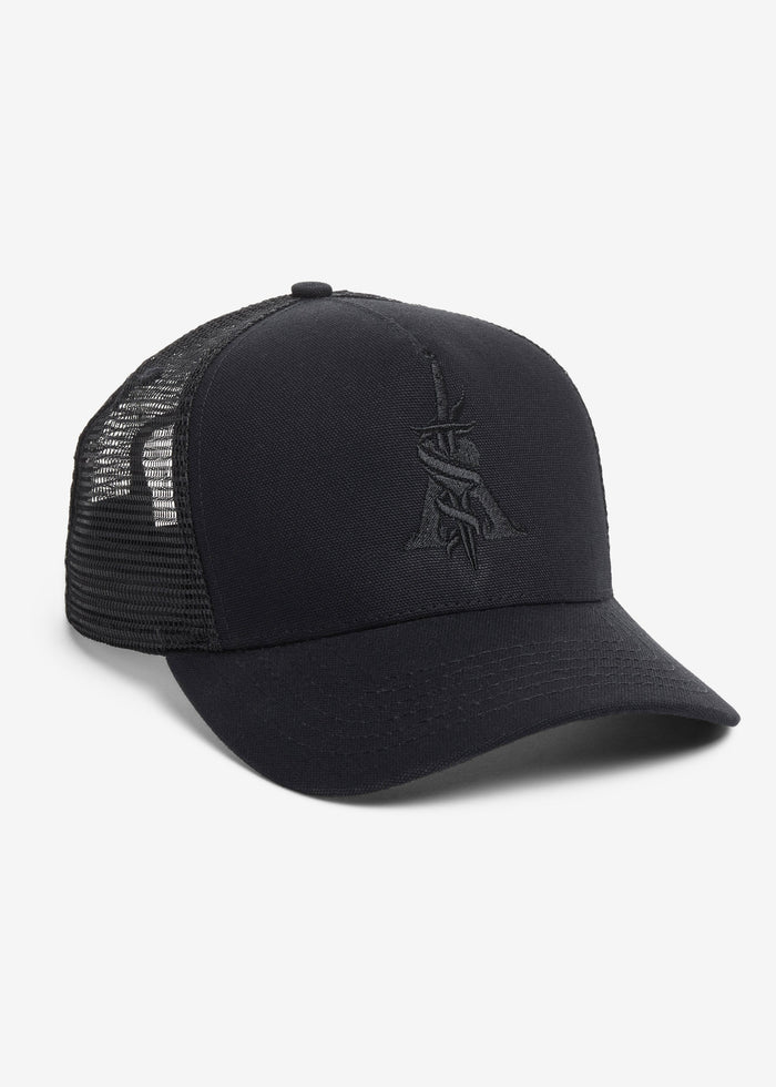 A Dagger Cotton Trucker Hat Web Exclusive - Black/Black