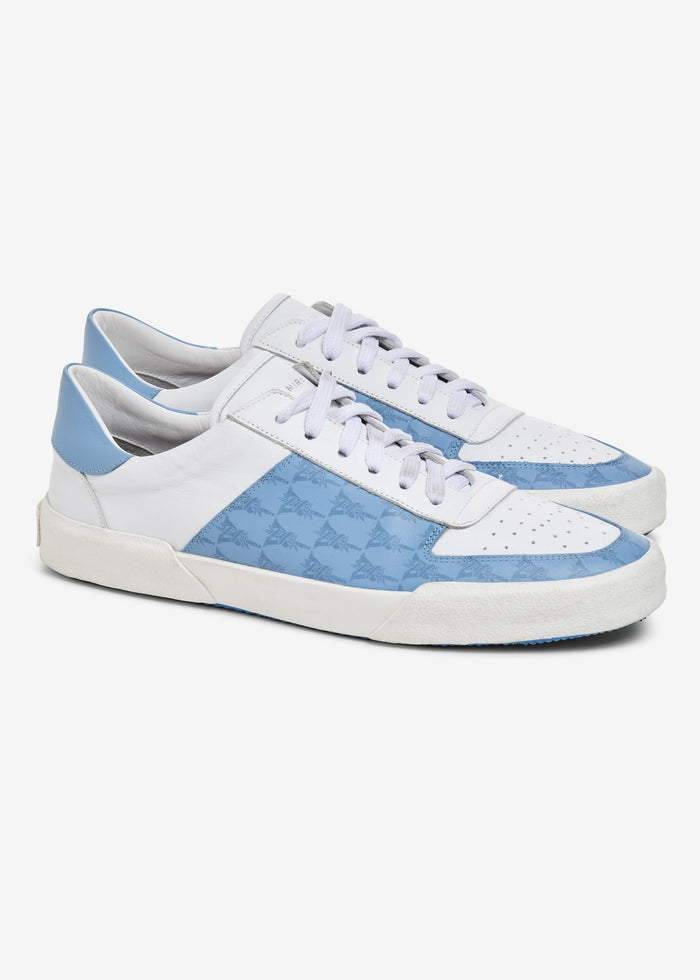 Dagger Monogram Low Sneaker - Cobalt/White