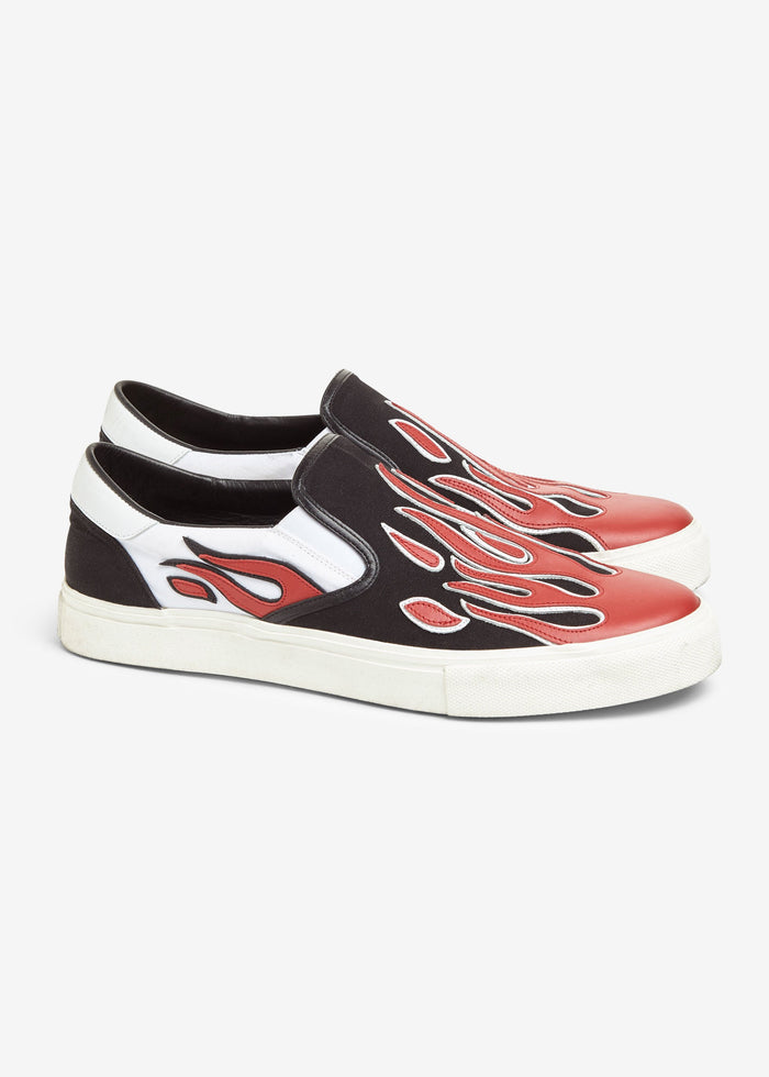 Flame Slip On - Black/White/Red