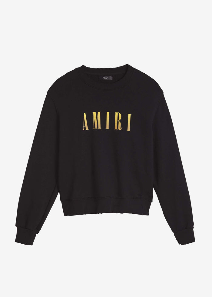 AMIRI Core Crewneck - Black/Yellow