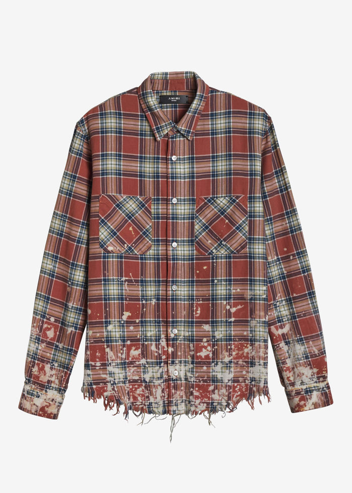 AMIRI Splatter Plaid - Red/Blue