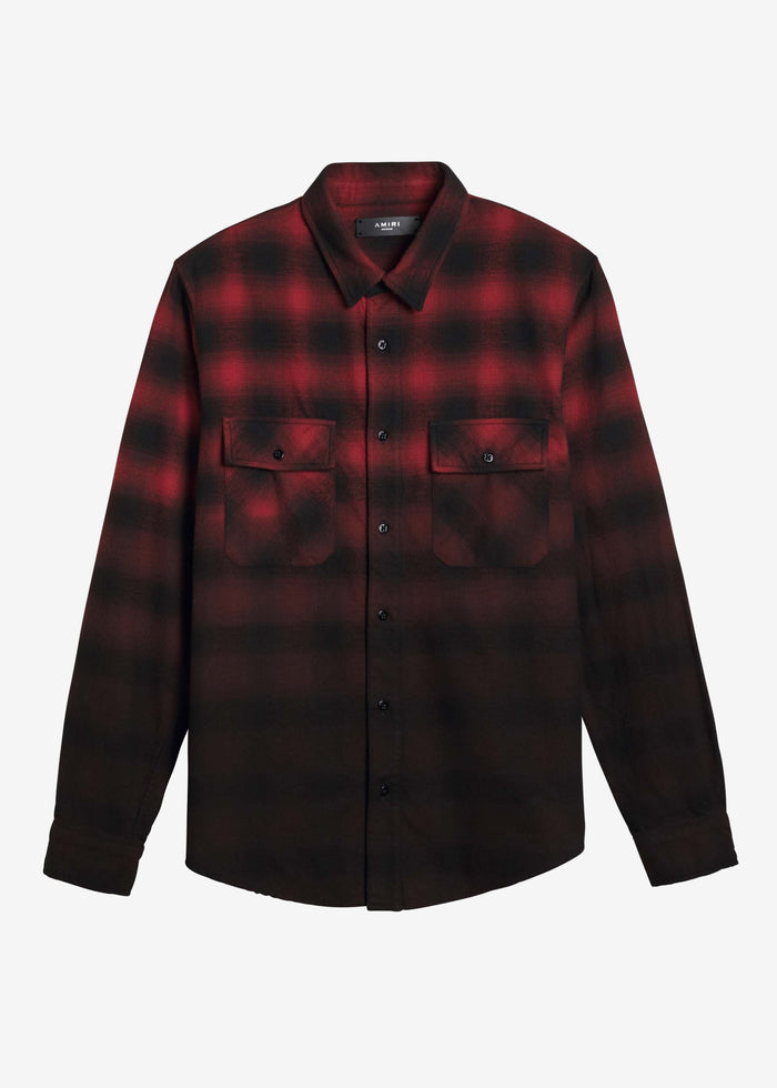 Dip Dye Flannel - Red/Black
