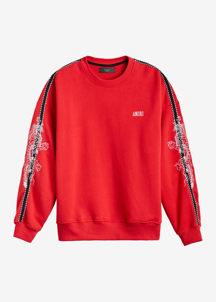 Dragon Outline Crewneck - Scarlet
