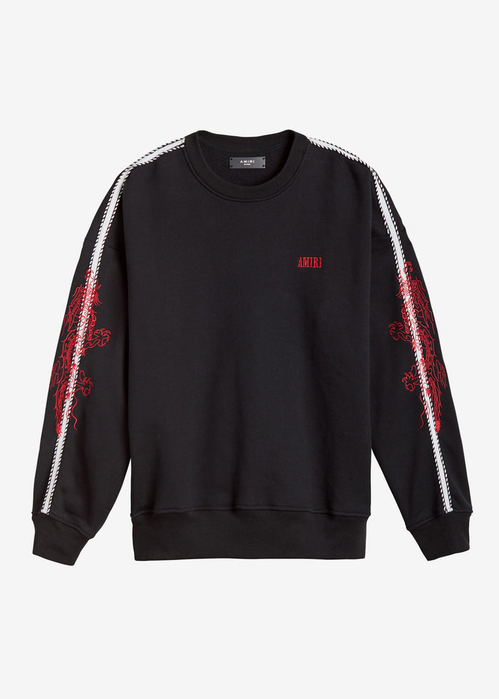 Dragon Outline Crewneck - Black