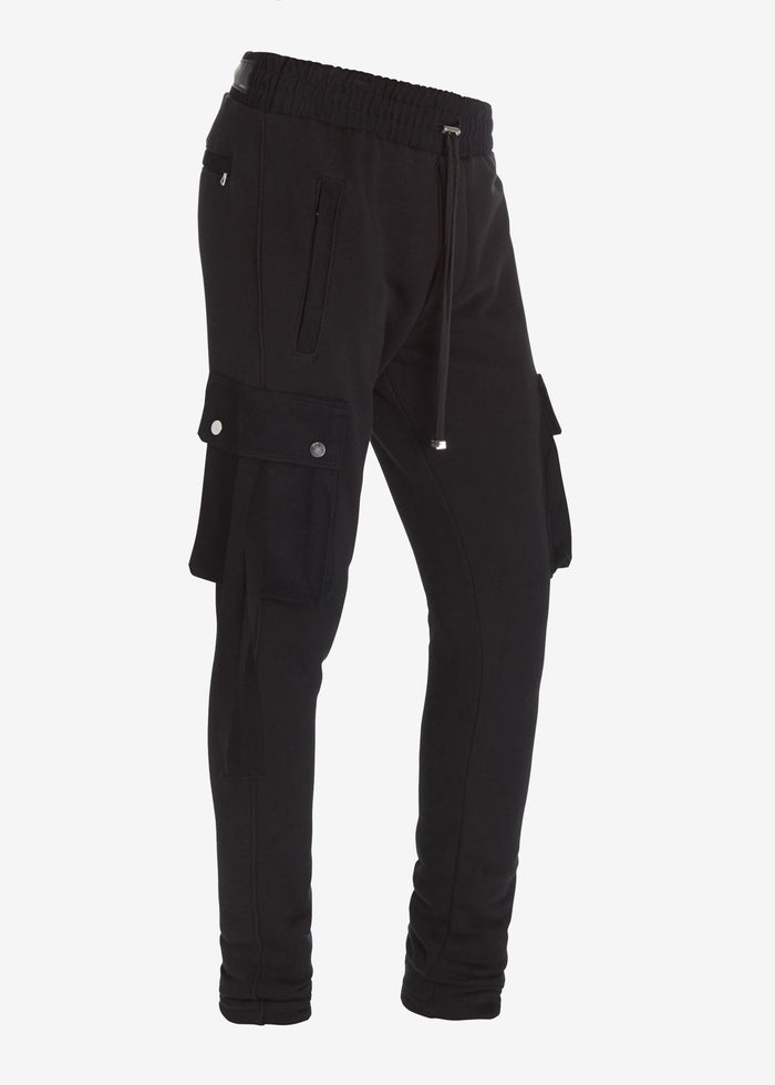 Cargo Sweatpants - Black