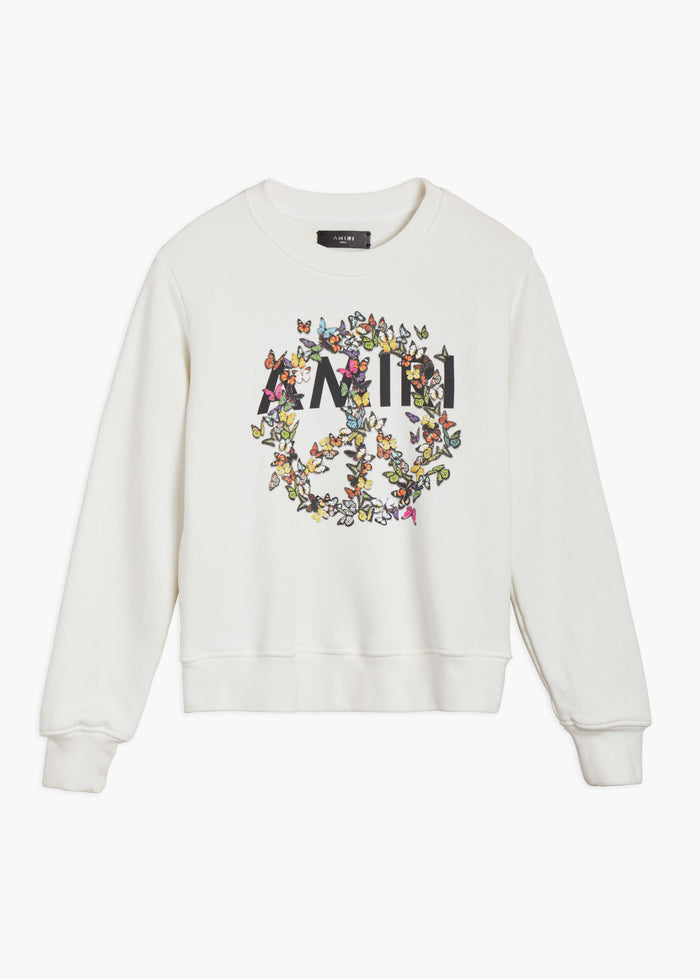 AMIRI Peace Butterfly Crew - Ivory