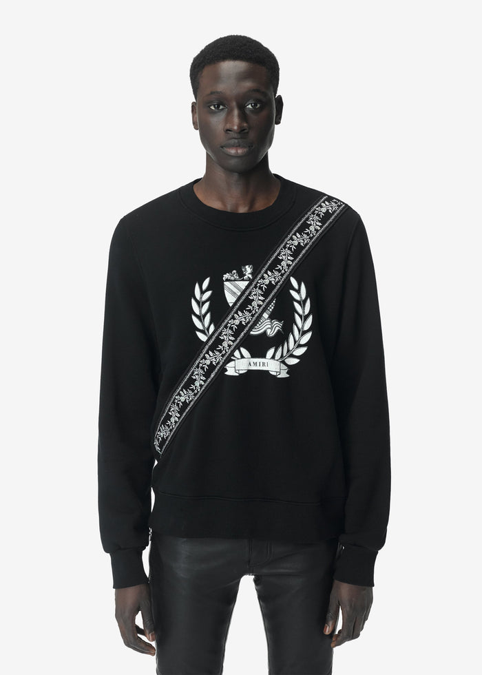 Crest Guitar Strap Crewneck Web Exclusive - Black