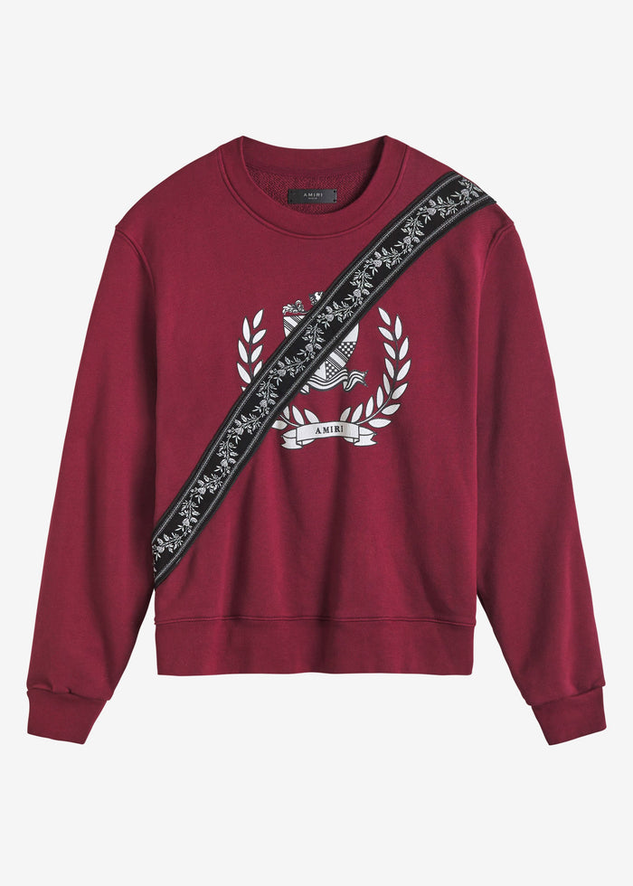 Crest Guitar Strap Crewneck Web Exclusive - Burgundy