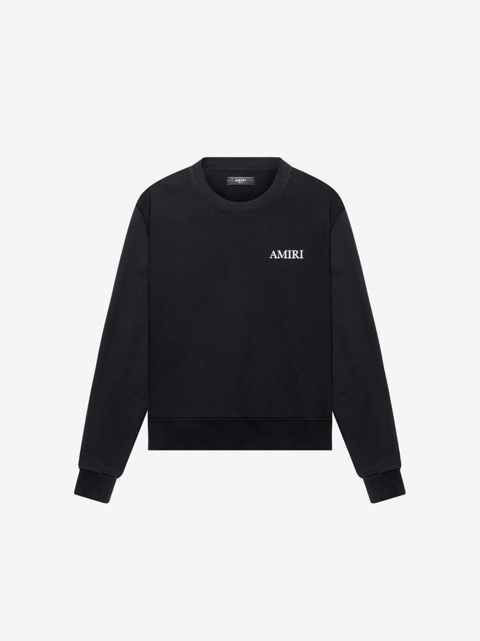 Large AMIRI Logo Crew - Black