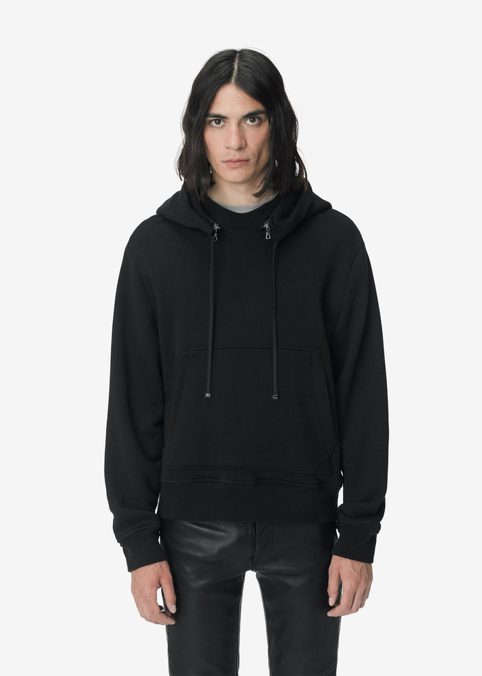 Removable Hood Hoodie - Black
