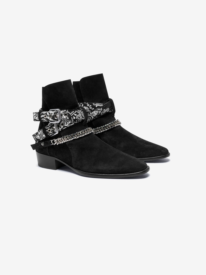 Bandana Buckle Boot - Black