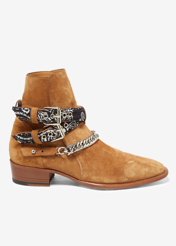 Bandana Buckle Boot - Brown