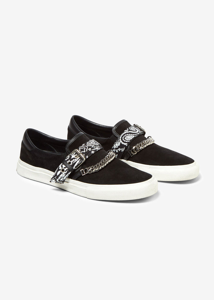 Bandana Buckle Slip On - Black