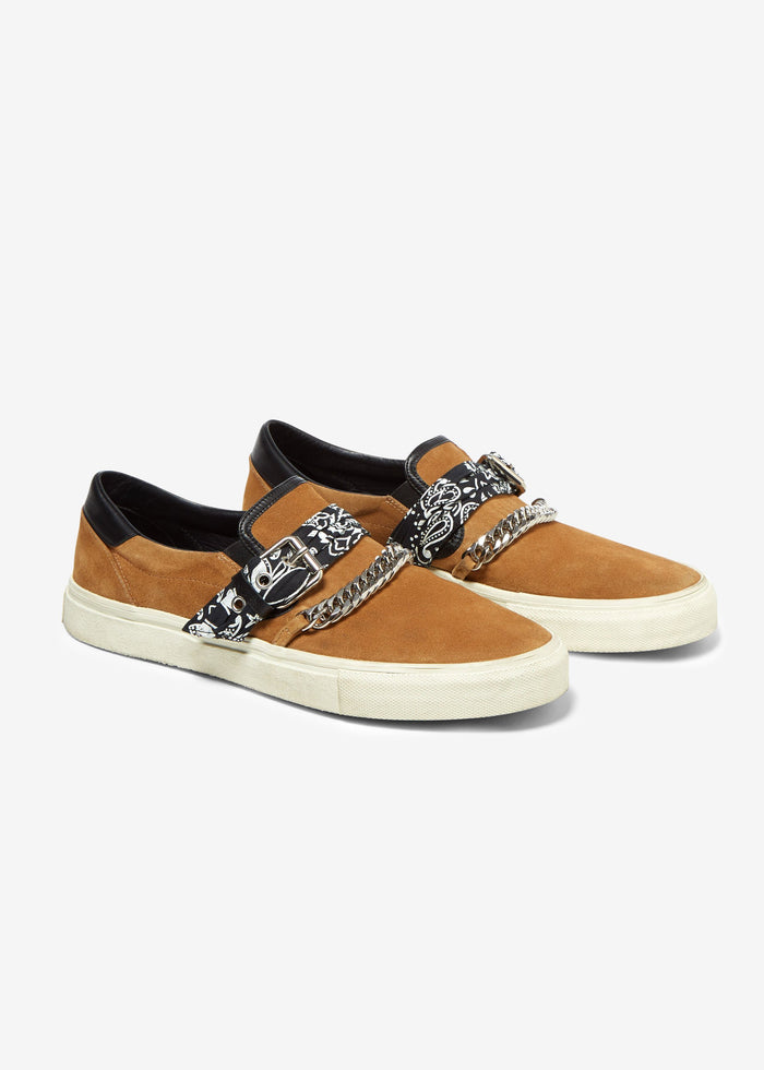 Bandana Buckle Slip On - Brown