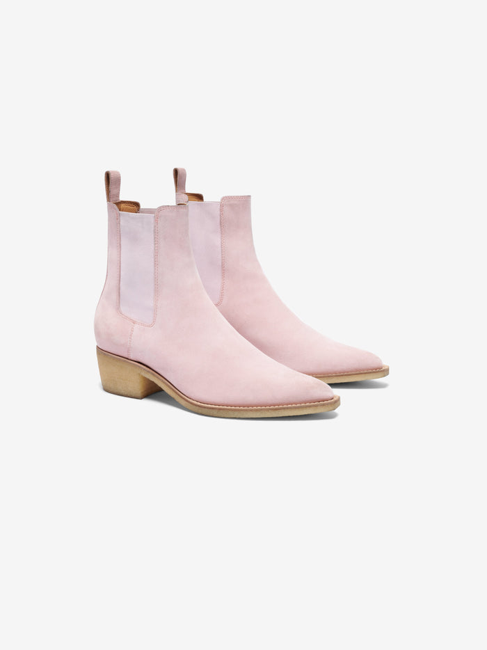 Crepe Chelsea Boot - Peach