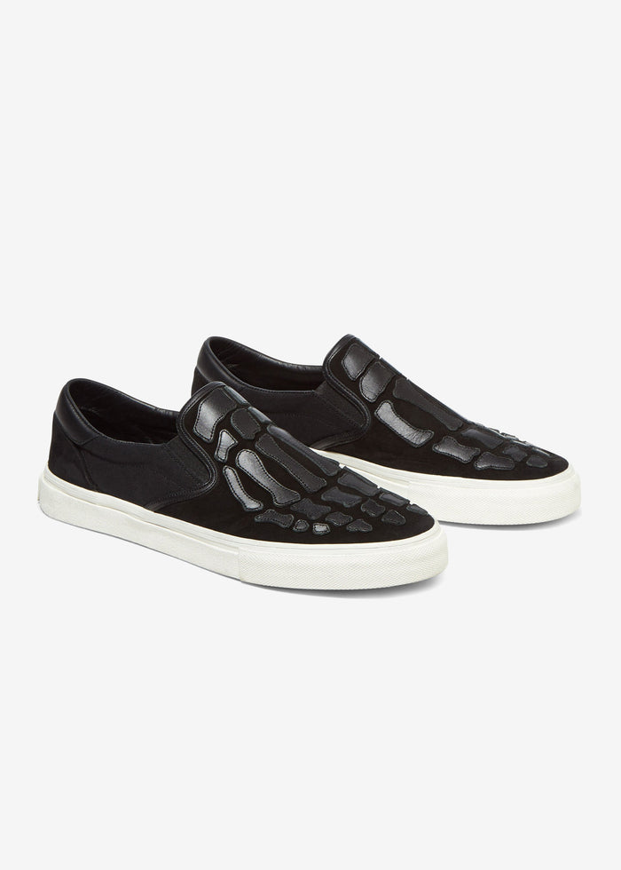 Skel Toe Slip On - Black/Black