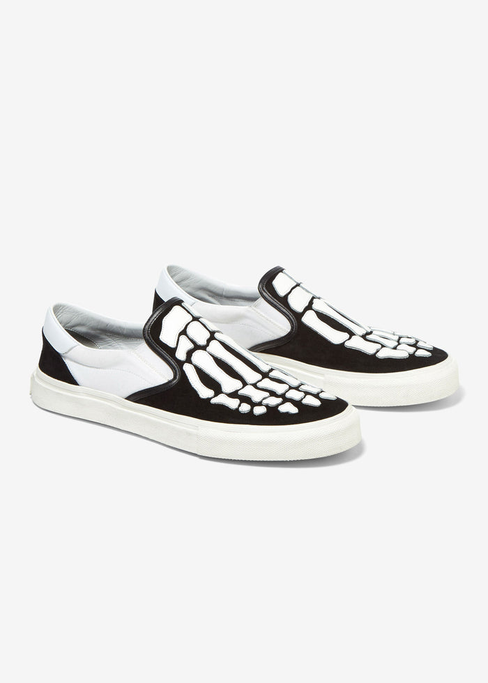 Skel Toe Slip On - Black/White