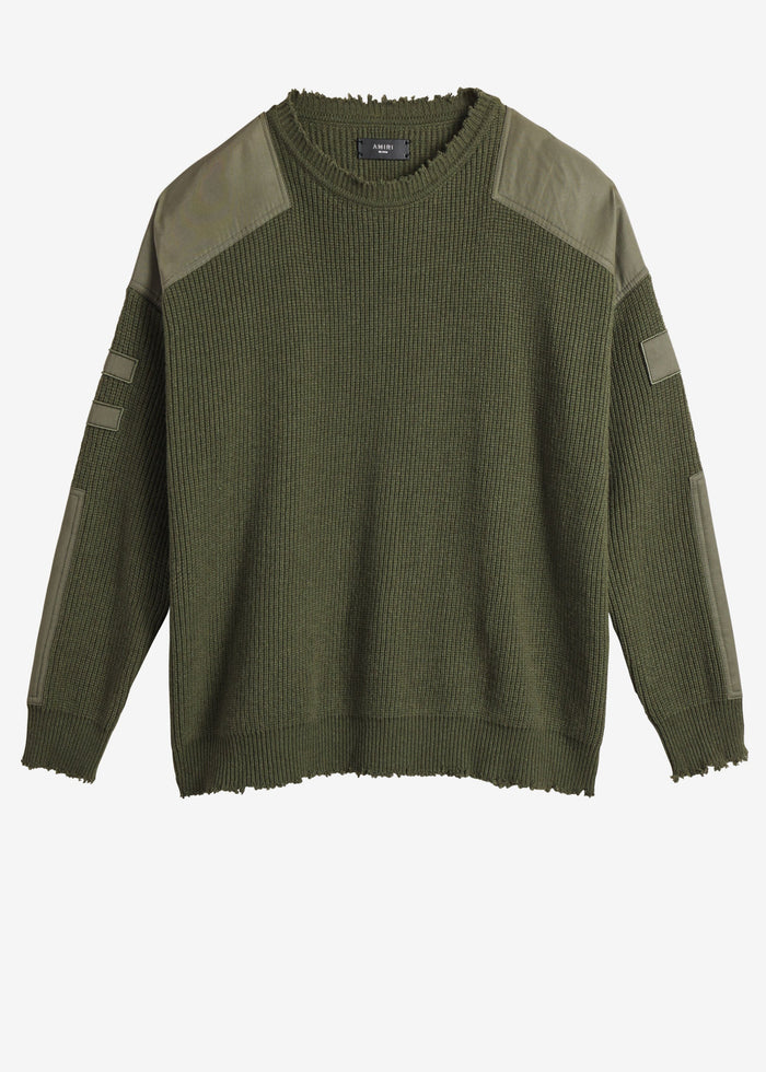 Military Patch Knit - Military Green
