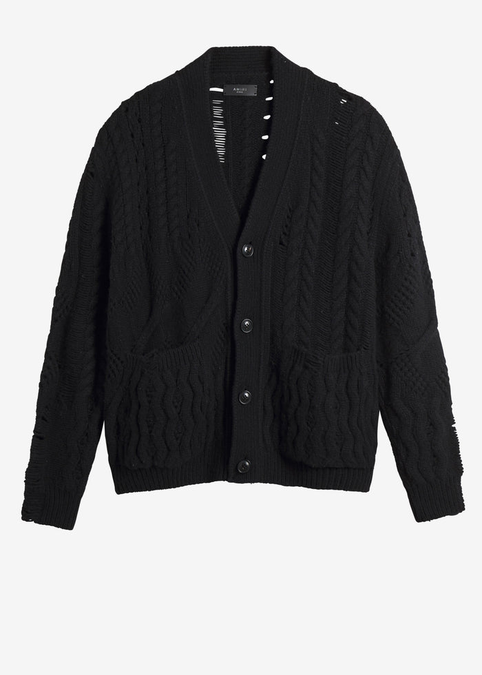 Multipoint Short Cardigan - Black