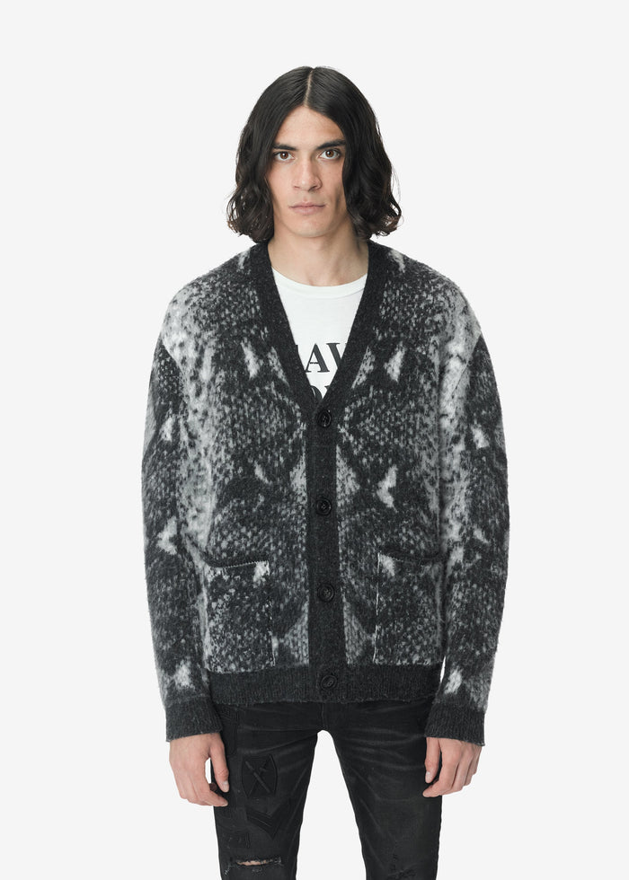 Short Cardigan Python - Dark Grey
