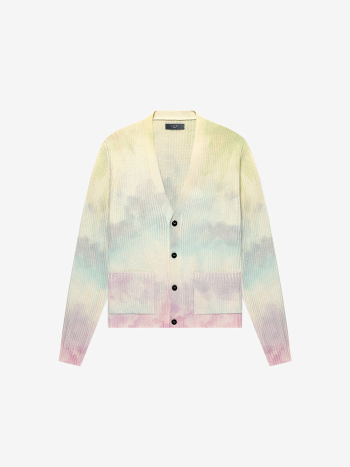 Watercolor Print Cardigan - Multi-Color