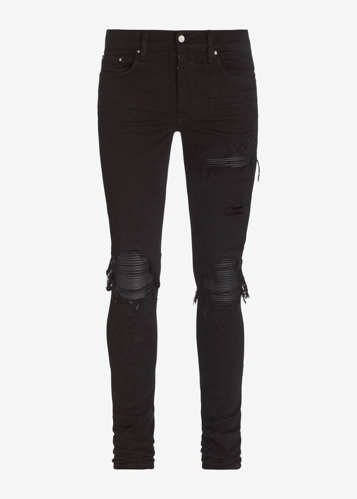 MX1 Leather Patch Jean - Black
