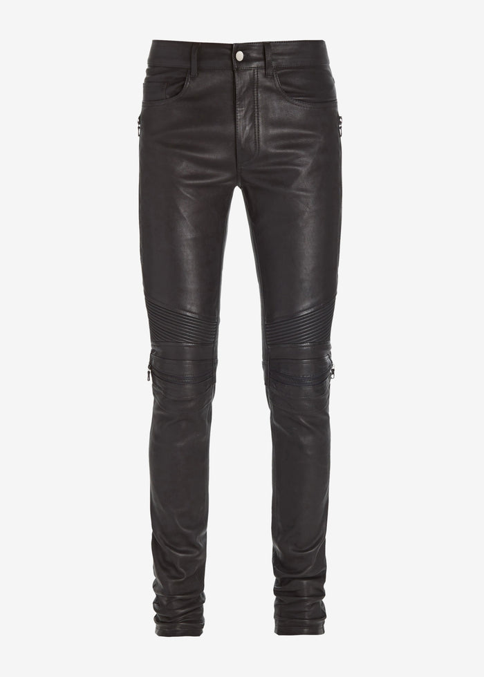 MX2 Leather Pants - Black/Silver
