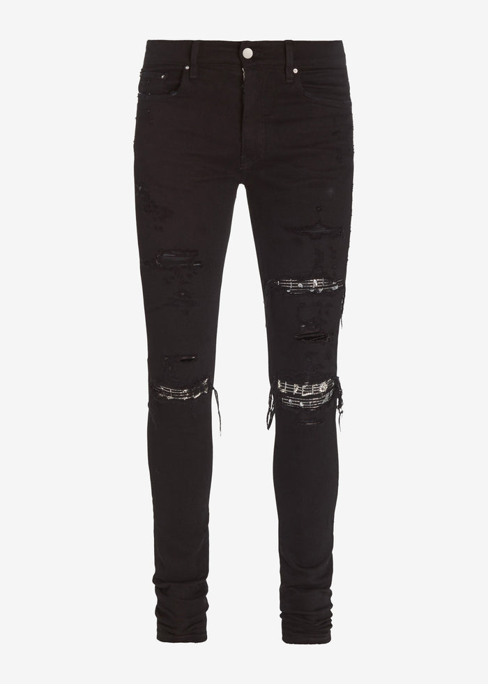 Music Note Patch Jean - Black