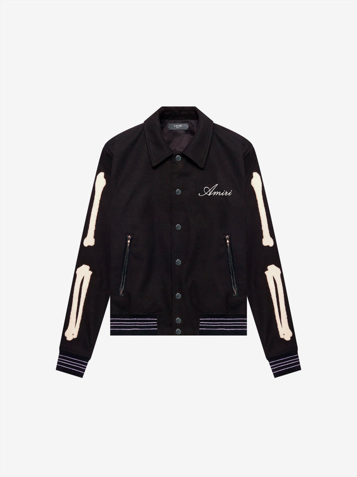 AMIRI Bones Teddy Jacket - Black