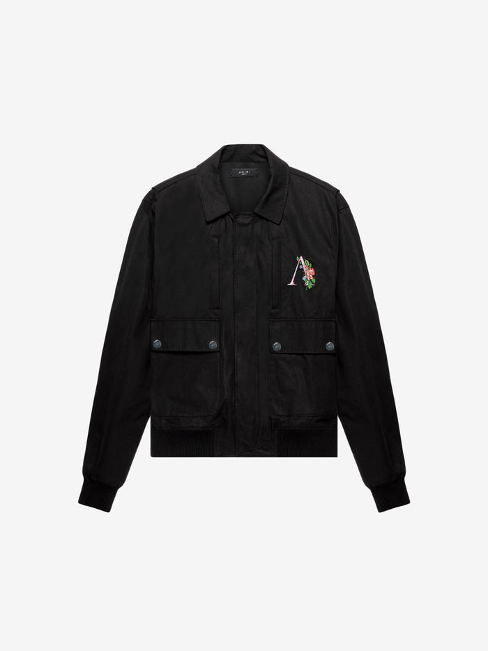 Floral AMIRI Zipped Jacket - Black