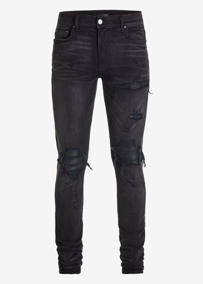 MX1 Leather Patch jean Aged Black