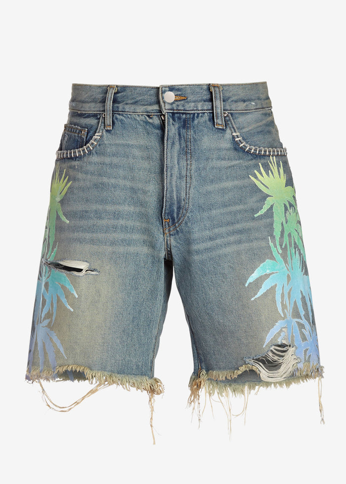 Leaves Denim Shorts - Medium Indigo
