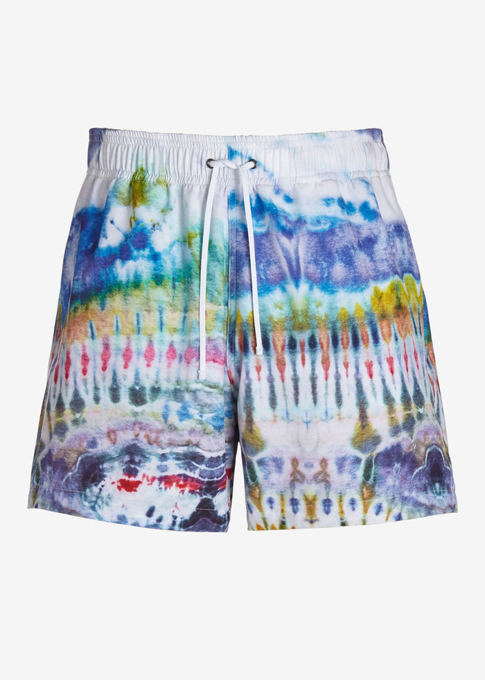 Tie Dye Swim Trunks - Blue
