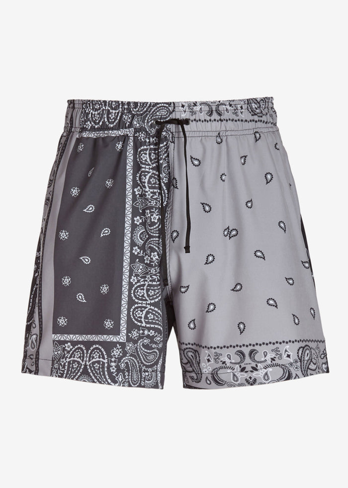Bandana Reconstruct Swim Trunk - Black