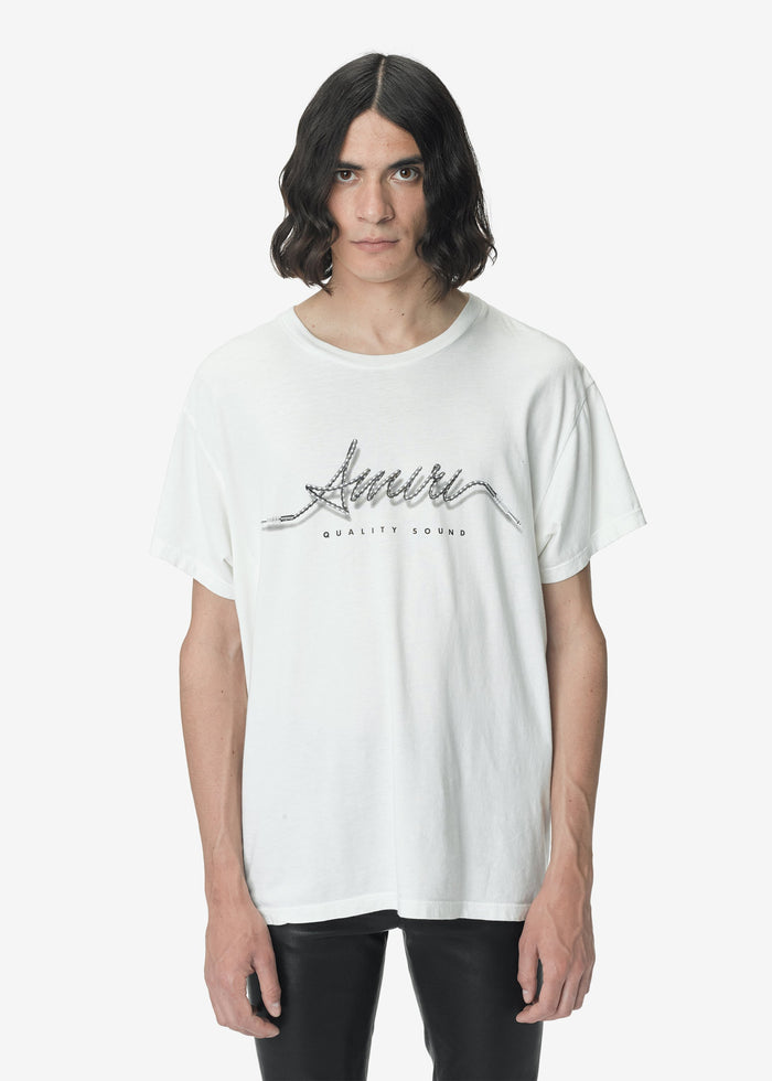 Corded AMIRI Tee - White