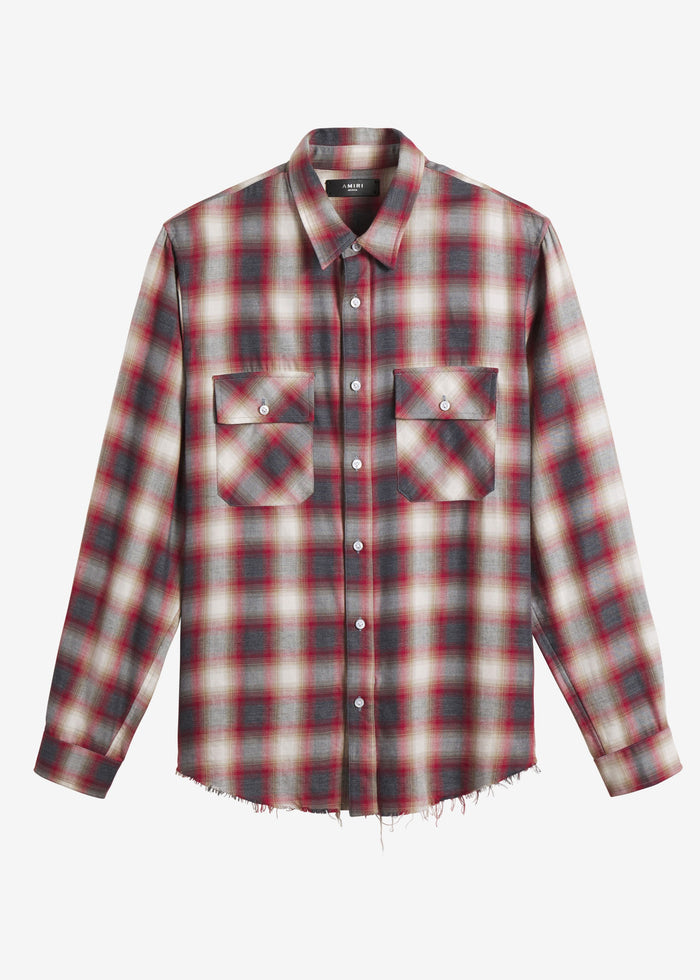 AMIRI Flannel Shirt - Red/White