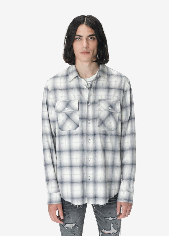 AMIRI Flannel Shirt - Blue/White