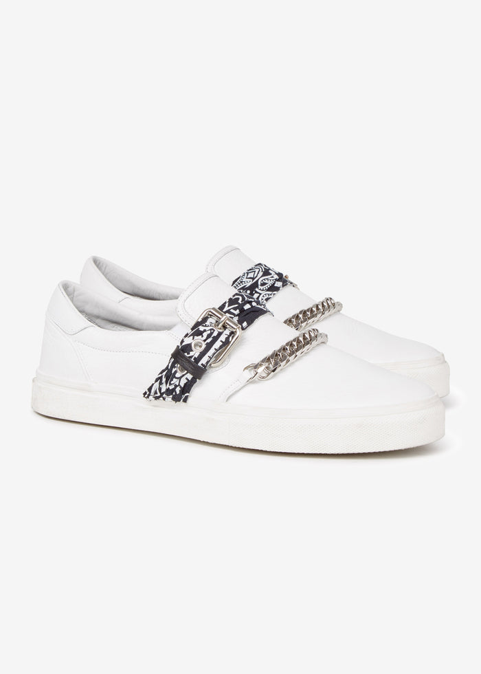 Bandana Chain Slip On Web Exclusive - White